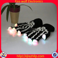 Guam Wholesale Cheap promotion led gloves glow in the dark gloves