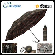 High quality mini umbrella aluminium sun 3 folding umbrella
