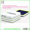 Factory Direct Sales Connect With USB Cable thin design Charging Mobile Solar Power Bank