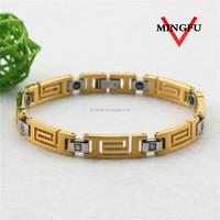 Mingfu magnetic healthy bracelet 24k gold plated jewellery