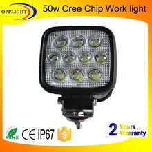 Opplight Factory direct 50w work light 5w/piece 4800lm led lamp for truck offroad j eep atv utv