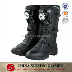 High Quality Leather Motorcycle Boots for police