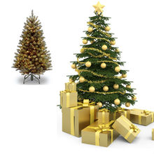 New Design Factory Wholesale Yellow Christmas Tree