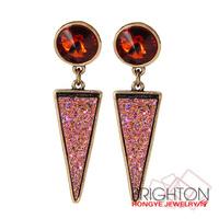 Vintage Ruby Drop Earrings D22444-2380