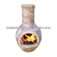High quality mini terracotta chimenea fireplace for home use