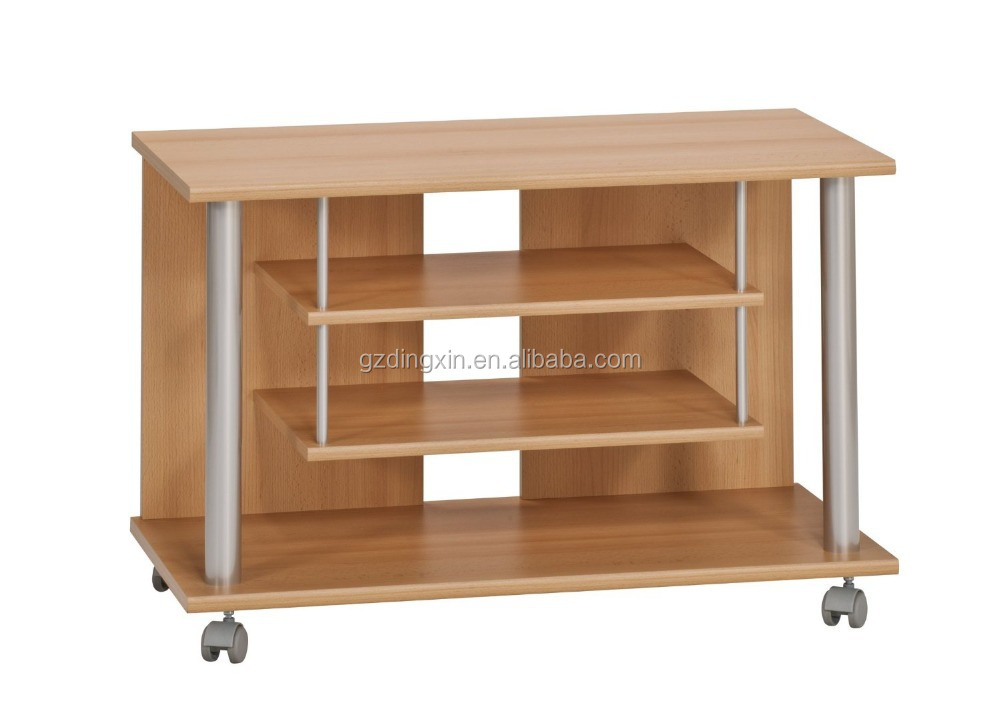 Lcd Tv Stand Designs Wooden : Wooden lcd tv stand design with wheels home office buy