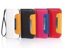 Factory supply color assorted stylish leather cell phone case