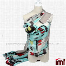 Wholesale House Printed Wide Big Cashmere Silk Linen Shawl Scarf