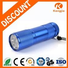 Ultra Bright Aluminum Promotionl 9 LED Flashlight Mini-Led Torch