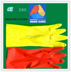 Flock lined Rubber Household gloves garden glove, latex glove china manufacturer