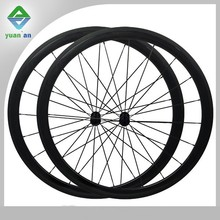 lightweight tubular Taiwan time trial 700c carbon wheels carbon material 12k glossy
