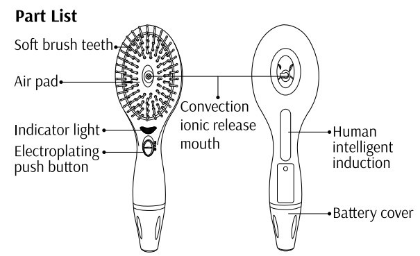 2016 Newest Private Label Vibrating Electronic Hair Comb