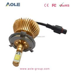 Excellent customer service golden waterproof car light h4 auto led headlight 25W 12V led headlight kit