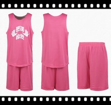 Custom Breathable Color Pink Womens Basketball Uniform Design