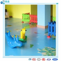 Hot sale colorful kindergarten pvc vinyl flooring