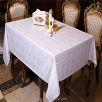 2015 Flower design table cloth 54'' PVC hand embroidery tablecloth