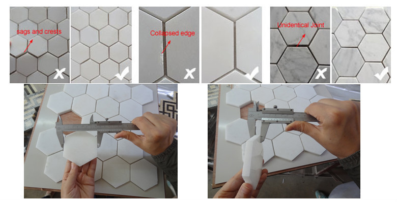 Brand new cube 3d mosaic tile diamond