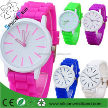 2015 women dress rhinestone watches Ladies girl sports quartz watches silicone rubber band