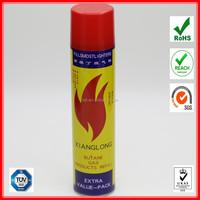 purified lighter gas refill valve/tinplate gas cartridge supplier 300ml
