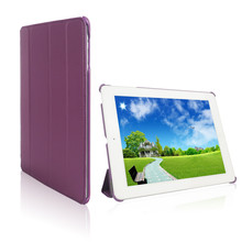 Elegant Purple Leather Case For iPad 3 Sleep Function For iPad 3 Case Smart Cover For iPad 4
