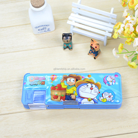 Lovely Plastic Pencil Box With Double Sharpener For Pupil
