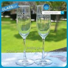 Wedding Favor Glass Champagne Bride&Groom Decal Glass Cup Welcomed Glass Champagne Cup
