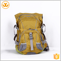 Outdoor yellow waterproof fashion design customized leather backpack