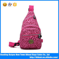 Trendy nylon real chest shoulder bag