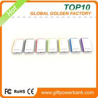 Online shopping 2 usb rohs power bank 10000mAh mobile power pack
