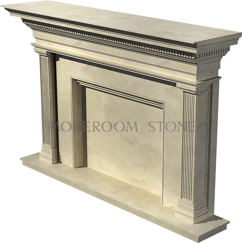 WL-BL004 Moreroom Stone Natural Marble Finished Marble Product Natural Stone Marble Fireplace.jpg