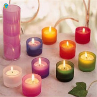 mini colored glasss candle holder for birthday &wedding party