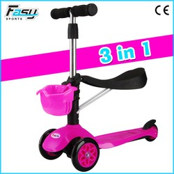 New design new color kids scooter 3 wheel, mini scooter
