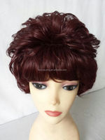 Fashion and Hotsale Short Curly Wig for Old Ladies