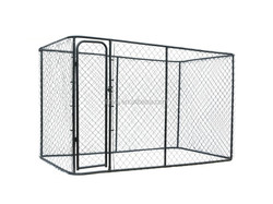 Outside dog fence dog crate from processing factory