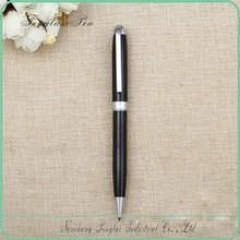 silvery and black metal pen metal model twist pen black ink