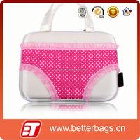 2015 woman storage box wholesale bra bag with zipper