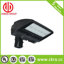 US market dimmable 5 years warranty high lumen output 150 Watts LED Shoe Box Pole Light with DLC and ETL listed