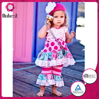 China manufacturer comfortable children clothes baby clothing outfits little girls boutique remake clothing sets