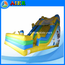Interesting Cartoon Character Theme Top sale inflatable minions water slides with pool