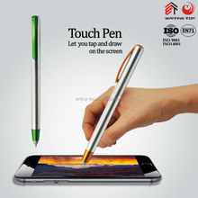 silver cheap plastic promotional ball pens