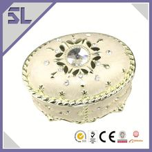 Antique Small Oval Shaped Jewelry Box Unique Wedding Gifts For Couples Small Jewelry Box Handicraft