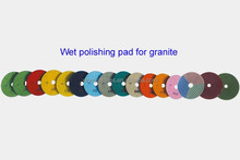 Granite wet polishing pad