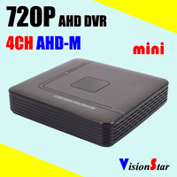 Mini 4ch CCTV DVR AHD-M 720P compatible AHD camera analog camera IP camera for security system