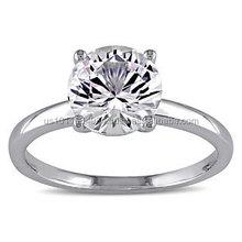 Fashion Round Zircon Rings For Women Luxury Quality Cut Cubic Zirconia Diamond Wedding Ring