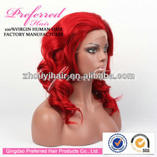 Queen preferred 12'' red color soft curl synthetic wig with wholesale price accept Escrow payment