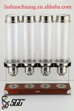Four Heads Cereal Dispenser for Buffet/Hotel/Restaurant/Home