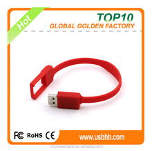 Easy to carry red bracelet usb memory 4gb real capacity