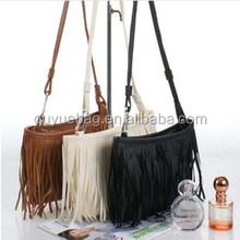Female fashion models small fringed shoulder bag diagonal bag PU handbags