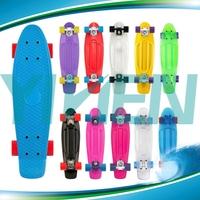 school board fish style skate,fashion high quality plastic skateboard, longboard blank deck