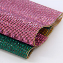 2015 rhinestone hot fix mesh 24x40cm self adhesive for shoes dress decaration
